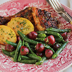 Green Beans and Grapes with Persillade Recipe