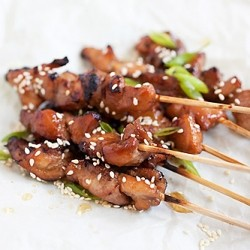 Honey Sesame Chicken Skewers Recipe