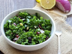 Lemon Apple Detox Kale Salad Recipe