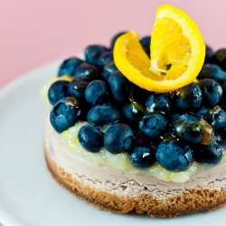 Lemon Blueberry Cheesecake with Icelandic Skyr and Meyer Lemon Curd
