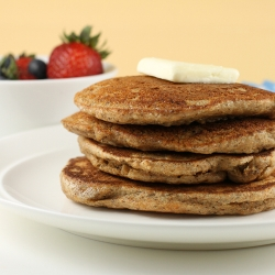 Maple Hazelnut Flaxseed Pancakes