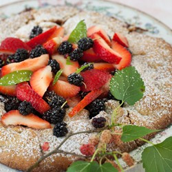 Mulberry and Strawberry Galette Recipe