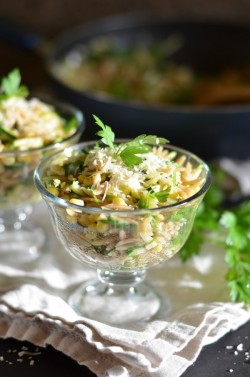 Orzo with Zucchini and Sweet Corn Recipe