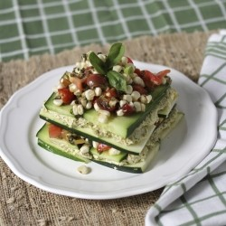 Raw and Vegan Summer Lasagna Stack Recipe