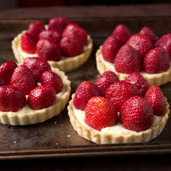 Strawberry Tarts with Vanilla Pastry Cream Recipe
