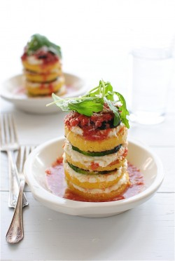 Vegetarian Polenta Lasagna Stacks Recipe