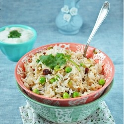 Warm Snap Peas and Rice Salad
