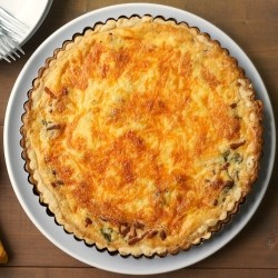 Arugula Bacon and Cheddar Quiche Recipe