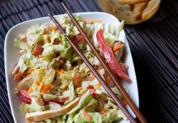 Asian Cabbage and Tofu Salad