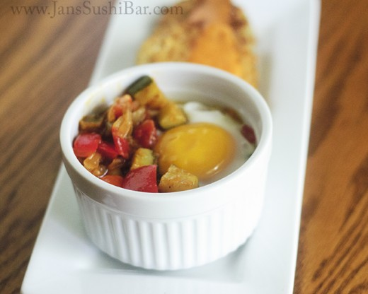 Baked Eggs and Ratatouille