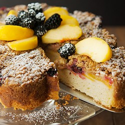 Blackberry Peach Coffee Cake Recipe