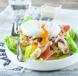 Caesar Salad with Poached Egg Recipe