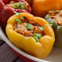 Chicken Enchilada Stuffed Peppers Recipe