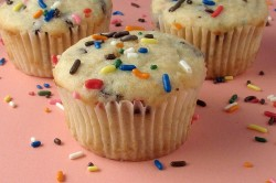 Chocolate Chip Cake Batter Muffins