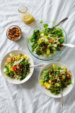 Chopped Salad with Roasted Chickpeas Recipe