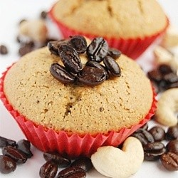 Coffee Cashew Cupcakes
