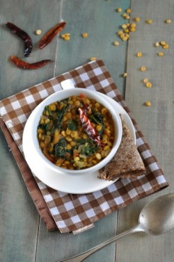 Dal Palak Indian Lentil Curry with Spinach