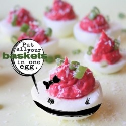 Deviled Eggs with Beets and Smoked Parika