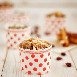 Dried Cherries Marzipan Muffins Recipe