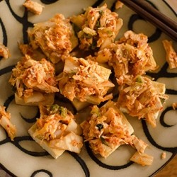 Fried Tofu with Kimchi Recipe