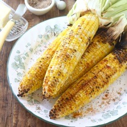 Grilled Corn with Sichuan Pepper Sea Salt