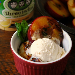 Grilled Plums Nectarines with Spiced Rum Recipe