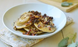 Homemade Pumpkin-Ricotta Ravioli with Brown Butter Walnut Sauce Recipe