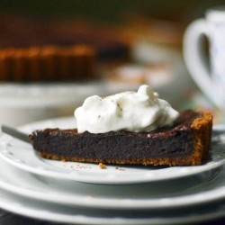 Intense Chocolate Tart with Gingersnap Crust