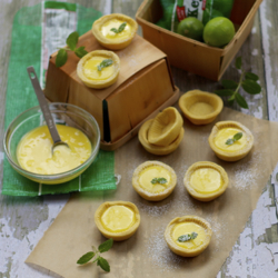 Key Lime Curd Mascarpone Tartlets
