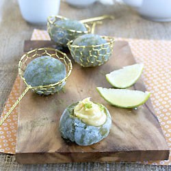 Matcha Green Tea Mochi with Lime Custard Filling