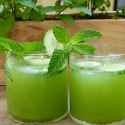 Mint Cucumber and Vodka Cocktail Recipe