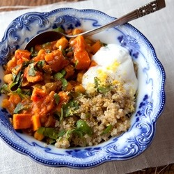 Moroccan Sweet Potato Stew with Quinoa