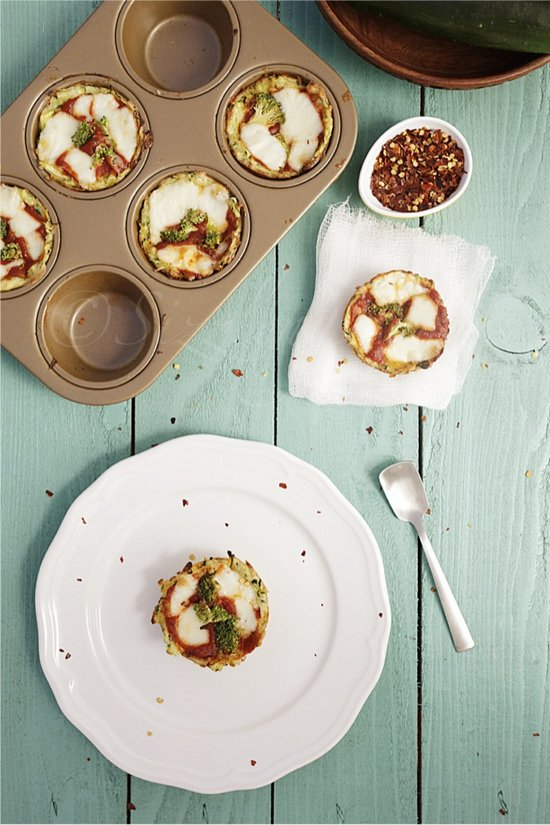 Pizza Cups with Zucchini
