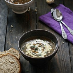 Roasted Eggplant and Chickpea Soup