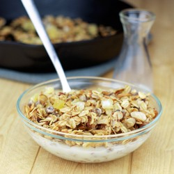 Skillet Granola with Pineapple Dates and Almonds