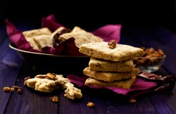 Spicy Goat Cheese Pecan and Paprika Shortbread Recipe