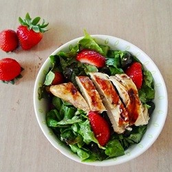 Strawberry Chicken Salad with Honey Lime Vinaigrette Recipe