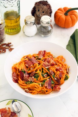 Sweet Potato Noodles in Butternut Squash Sauce Recipe