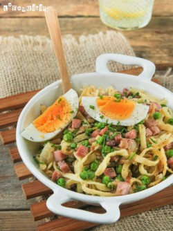 Tagliatelle with Pepper Butter and Egg Recipe