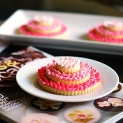 Three Tiered Frosting Flower Cookies