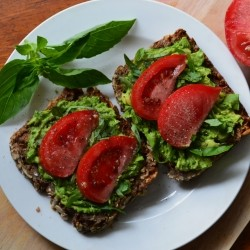 Tomato Basil Avocado Toast Recipe