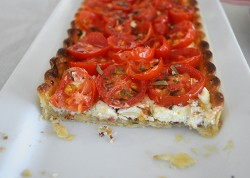 Tomato Tart with Fig Dijon and Goat Cheese Recipe