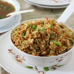 Vegetable Fried Rice Indo Chinese Recipe