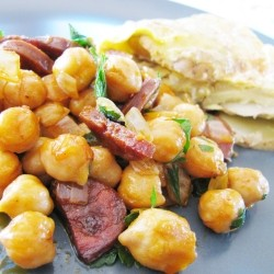 Warm Chickpeas and Chorizo