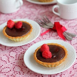 Warm Chocolate Raspberry Tart