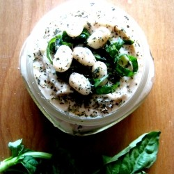White Bean and Basil Hummus Recipe