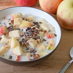 Apple Cereal with Seeds and Cacao Nibs Recipe