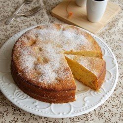 Apple Polenta Cake Recipe