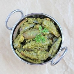 Aubergines Coriander Curry Recipe