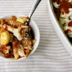 Baked Penne Pasta with Zuccchini and Goat Cheese Recipe